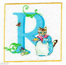 "3.5"" BEATRIX POTTER WALL LETTER R NURSERY ALPHABET ABC  WALL SAFE FABRIC DECAL"