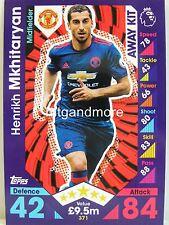 Match Attax 2016/17 Premier League - #371 Henrikh Mkhitaryan - Away Kit