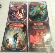 D&D MODULE LOT of 4 D&D IRON FORTRESS ,STONE,FURY,KALAMAR..(C6B5)