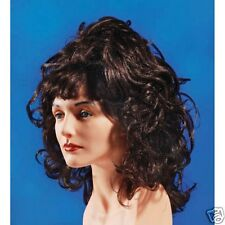 Brown Curly Goth Wig Lady Party Dress up Halloween Costume party