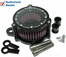 Black Billet Air Intake Filter Cleaner Kit Harley Sportster Stage 1 High Flow
