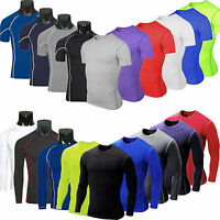 Men Compression Base Layer Armour Thermal Under Skin T-Shirt Top Sport Gear Wear