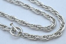 Taxco Mexican Solid 925 Sterling Silver Rope Chain Necklace. 67.5g, 51cm, 20""