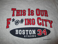 "DAVID ORTIZ No 34 RED SOX ""THIS IS OUT F*@#ING CITY"" (LG) T-Shirt BOSTON STRONG"