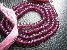 """Full 13"""" Strand Fine Quality RHODOLITE GARNET Gemstone Faceted Rondelle Beads"""