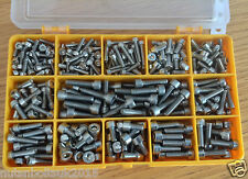 290 Assorted M3, M4 & M5 Allen Socket Cap Screws Bolts Stainless Steel kit set