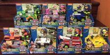 PAW PATROL JUNGLE VEHICLE SET of 7 Tracker, Skye, Marshall, Chase, Rubble, and