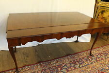 Queen Ann Inlaid Dining Sofa ConsoleTable with Refractory Extension Circa 1920s'