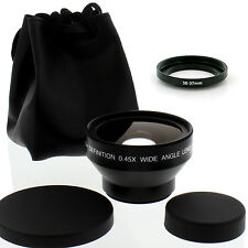 Albinar HD 37mm  30mm Wide Angle Lens w/ Macro for SONY HANDYCAM DCR-SR45 Camera