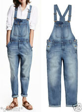 H&M SIZE S 36 38 DENIM DESTROYED DUNGAREES BOYFRIEND Latzhose Latzjeans OVERALL