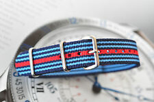Quality 22mm Porsche Martini Racing Colors Strap for Sport Watch Band 316 Steel