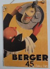 Berger French Wine Vintage Retro Advertising Travel Poster on Wood Sign