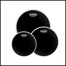 "Evans Onyx 2-Ply Tompack Coated, Fusion 10"" 12 "" 14""  Evans heads Tom Head Pack"