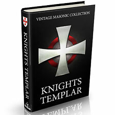 Knights Templar Collection 95 Rare Vintage Books on DVD Freemasons Crusades