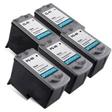 5 Pack Canon PG-40 CL-41 Ink Cartridge for PIXMA iP1600 iP1700 iP1800 iP2600