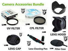 FK74u CPL UV Filter + Lens Hood + Cap + LensPen for all 46mm Filter size Lens
