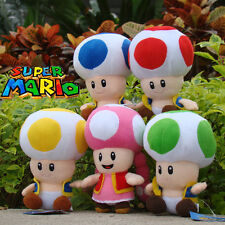 5X Nintendo Super Mario Bros Runing Game Plush Toy Toad Toadette Stuffed Animal
