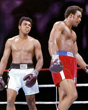 1974 Boxing MUHAMMAD Ali & GEORGE FOREMAN 8x10 Photo Rumble in the Jungle Print