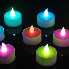 24 x Colour Changing LED Tea Light Candles Flameless Flickering Wedding Home