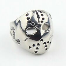 Men's Biker Jason Voorhees Mask Ring Friday the13th 316L Stainles Size 11