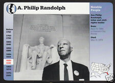 A. PHILIP RANDOLPH Labor Leader Lincoln Memorial Photo STORY OF AMERICA CARD