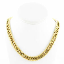 SOLID 14K YELLOW GOLD FINISH THICK HEAVY MIAMI CUBAN TIGHT LINK CHAIN 12MM JayZ