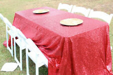 """50""""x80"""" Wedding Rectangle Sequin Table Cloth Overlay Cover Runner 17 Colors"""