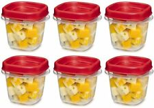 Rubbermaid Easy Find Lid Square 1/2-Cup Food Storage Container 6 pack