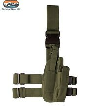 KOMBAT TACTICAL DROP LEG HOLSTER GREEN RIGHT HANDED AIRSOFT MILITARY BTP