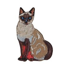 ID 2956 Cat Kitty Kitten Embroidered Iron On Applique Patch