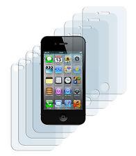 8 x Schutzfolie iPhone 4 4S Klar 4x Vorder- + 4x Rückseite Folie Crystal Clear