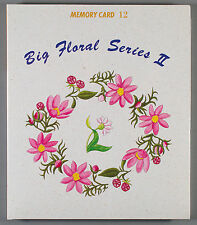 Janome Sewing Machine Memory Card #12 BIG FLORAL SERIES II Embroidery Templates