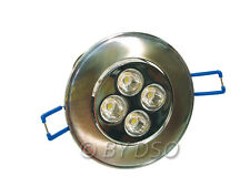 Omicron Silver Finish LED Downlight 6400k Cool White 5 Watt