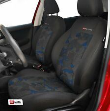 2 X CAR SEAT COVERS  pair for front seats fit  Ford Fiesta  charcoal/blue