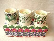 EMMA BRIDGEWATER CANDLE ESPRESSO MUGS CHRISTMAS SET OF 3 HOLLY IVY SNOWDROPS