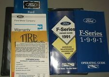 1991 Ford F 150 Pickup Truck Owners Manual and Case + Supplements
