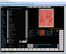 NEW Version for 2016 Stamp Collectors Database Software Windows 7/8/10 XP Vista
