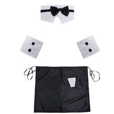 SEXY MEN HALLOWEEN BUTLER COSTUME LINGERIE Waiter Outfit Cosplay Party Nightwear