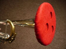 Trumpet Felt Mute - Vented Double Thickness Red Lining (Demo Video Cornet Hat)