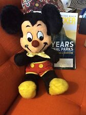 """VINTAGE MICKEY MOUSE 18"""" Plush Doll Disney Stuffed Toy - Rare Brown Nose!"""