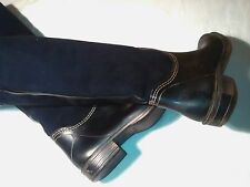 BNWOB 7 8 KURT GEIGER ON OR OVER THE KNEE OR KNEE SUEDE FUR RUBBER WINTER BOOTS