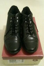 Lovely Womens Clarks ankle boots Black Leather Size 7  41 NEW IN BOX