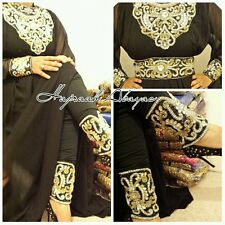 DUBAI abaya Farasha Kaftan butterfly eid Jalabiya maxi dress leggings included