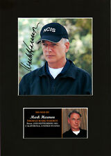 Mark Harmon Gibbs NCIS Quality signed Mounted Pre-Print 12 x 8.2 A4 BRAND NEW #