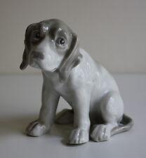 Gebr. Heubach Lichte alte Porzellanfigur Hund Welpe Sonnenmarke 1882-1915