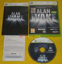 ALAN WAKE XBOX 360 Versione Ufficiale Italiana 1ª Edizione ••••• COMPLETO