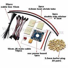 Multicopter DIY Parts 10CM JR Male Cable Tie 3.5mm Bullet Plug ESC Board Sticker