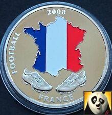 2008 40mm uefa euro football championnat de france carte pièce médaille