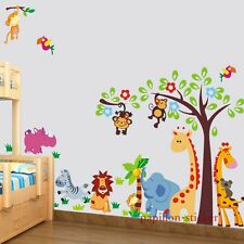 Design C - Giraffe/Monkey/Lion/Elephant Baby/Kid Nursery Wall Sticker Decal
