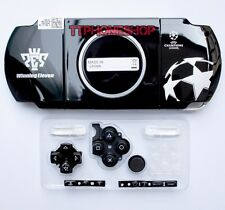 Black Housing Faceplate Case Cover for PSP 3000 Slim (Football Limited Edition)